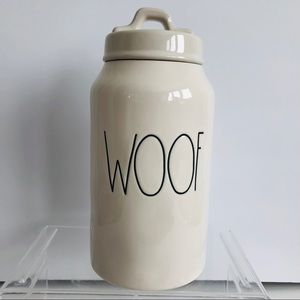 Rae Dunn By Magenta WOOF Dog Treat Canister Jar